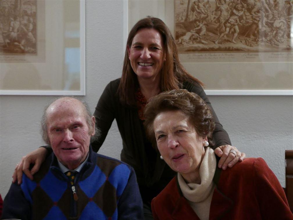 La famille en complet, Maria Caterina Dei avec ses parents