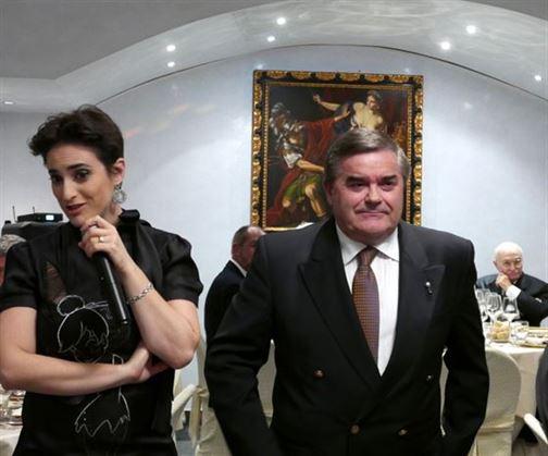 Sergio Cantoni directeur de Consorzio Tutela Valcalepio avec Sara Cantoni